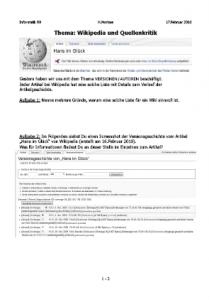 Informatik-Unterricht] Arbeitsblatt Wikipedia und Quellenkritik ...
