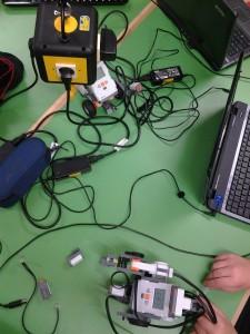 unsere Vorbereitungen im Lego Labor an der Schule (eigenes Bild)