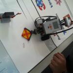 ein erster Prototyp für die Stoffquadrate-Mission (eigenes Bild)