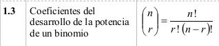 Auszug aus dem Cuadernillo / Formelsammlung zur Unidad 1