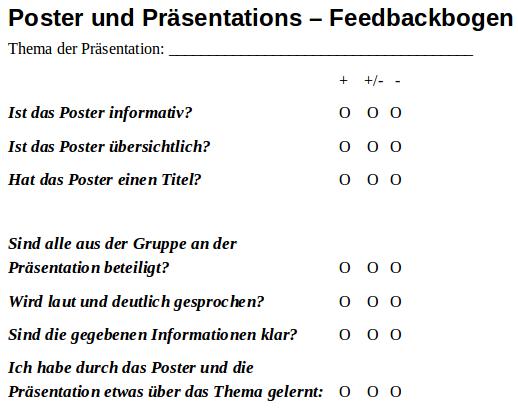 feedbackbogen