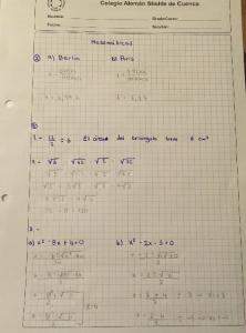 ein weiterer Ausschnitt einer bearbeiteten Hausaufgabe