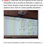 Eine Lösunge mit Erläuterung, worum es in dieser Mathe-Stunde ging