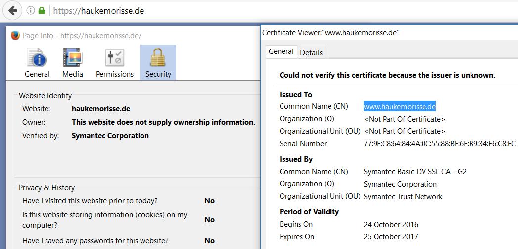Ein Zertifikat Zur Verschlüsselung Meiner Webseite Das